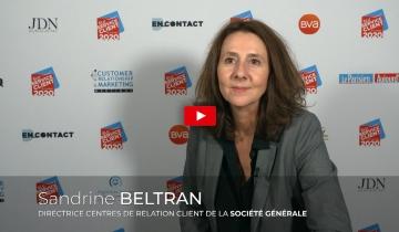 L'interview du mois : Sandrine BELTRAN, Directrice Centres de Relation Client de la Société Générale