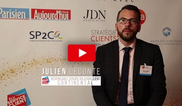Julien LECONTE, Responsable de la Relation Client de Continental